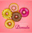 realistic donuts vector image vector image