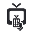remote tv icon vector image vector image