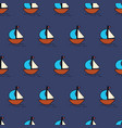 sailboats seamless background summer vector image vector image
