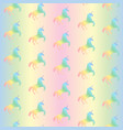 seamless pattern from rainbow unicorns vector image
