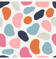 seamless pattern with cut out elements vector image vector image