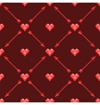 seamless pattern with polygonal hearts and arrows vector image