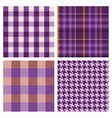 seamless purple checked patterns vector image