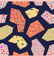 seamless terrazzo pattern with geometric elements vector image vector image