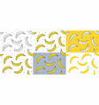 set of yellow bananas seamless pattern vector image