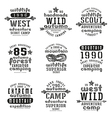 set typographic compositions for t shirt vector image