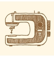 Sewing Machine Vintage style vector image