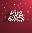 snowflake shape paper effect vector image vector image