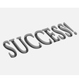 success text design vector image vector image