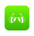 sunglasses icon digital green vector image