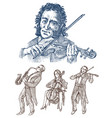 symphony orchestra men and women play the vector image