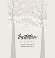 tree with lanterns vector image vector image