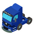truck icon isometric style vector image vector image