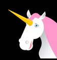 unicorn with pink mane head isolated fabulous vector image