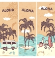 vintage banners tropical island vector image vector image