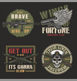 vintage colorful army emblems vector image vector image