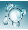 water drop one vector image