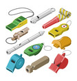 whistle coach whistling sound tool and vector image vector image