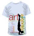 Yoga T-shirt vector image vector image