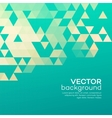 Blue geometric background with triangles vector image