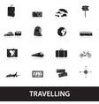 travelling icons eps10 vector image