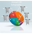 Abstract 3D Infographic vector image