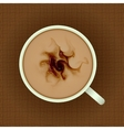 up of coffee with milk vector image