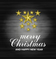 3d star merry christmas and happy new year vector image