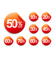 50 off discount sticker set 10-90 off sale tag vector image vector image