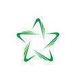 abstract star business identity logo image vector image