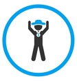 Agent Champion Circled Icon vector image