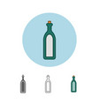 alcohol sign icon drink symbol bottle vector image vector image