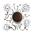 art coffee business drawn icon symbol idea vector image