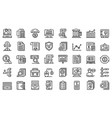 audit icons set outline style vector image vector image
