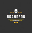 bakery logo or badge vintage vector image vector image