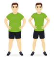 before and after diet man vector image