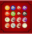billiard ball - realistic design vector image vector image