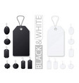 black and white price tags realistic empty vector image vector image