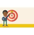 Black salesman hit the sales target vector image vector image