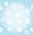 bright blue snowflakes background vector image vector image