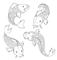 Carps sketches vector image