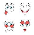 cartoon face vector image vector image