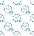 Clock seamless pattern vector image vector image