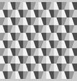 creative seamless polygonal 3d pattern vector image
