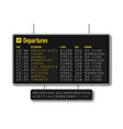 departure and arrival board airline scoreboard vector image vector image