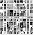 digital black and white geometric vector image vector image