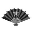 fan with star icon monochrome vector image vector image