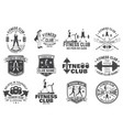 fitness club badges for fitness centers vector image