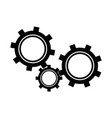 gears symbol concept of business team motion vector image vector image