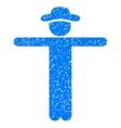 Gentleman Scarescrow Grainy Texture Icon vector image vector image